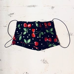 Kids! Vintage Retro Cherry PinUp Print Face Mask